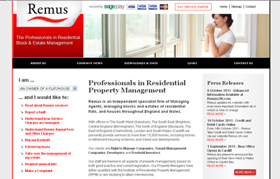 Remus Property Management website re-launch