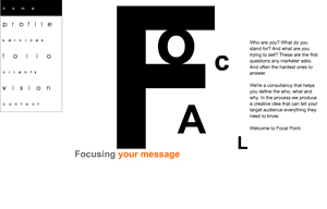 Focal Point Creative agency website